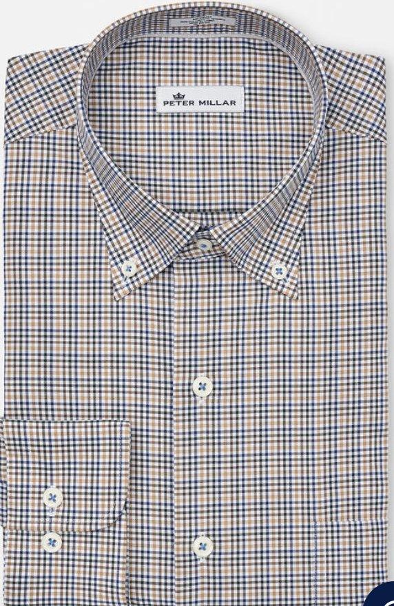 Peter Millar Nantahala Micro-Check Shirt
