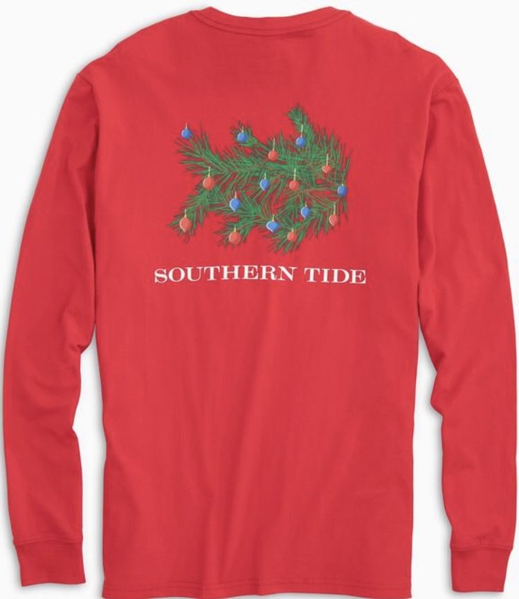 Southern Tide LS Skipjack Christmas Tree T-Shirt