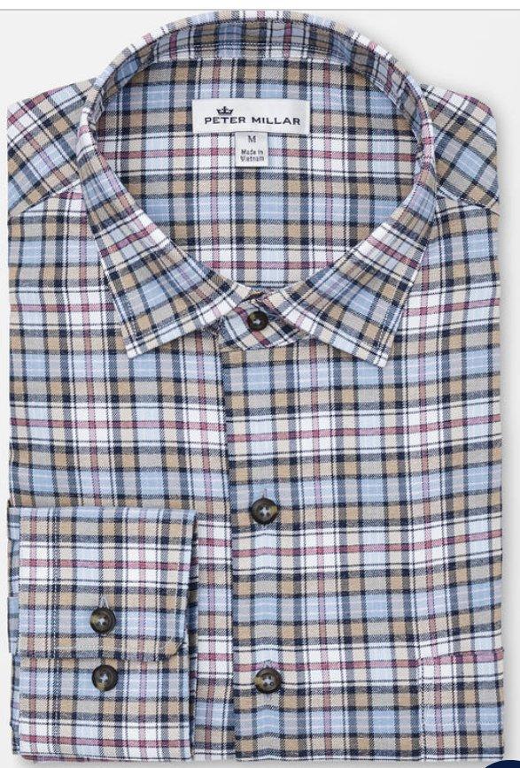 Peter Millar Allman Performance Plaid Flannel Woven Shirt