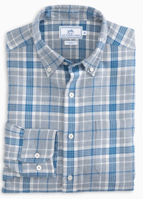 Southern Tide Town Lake Plaid Shirt