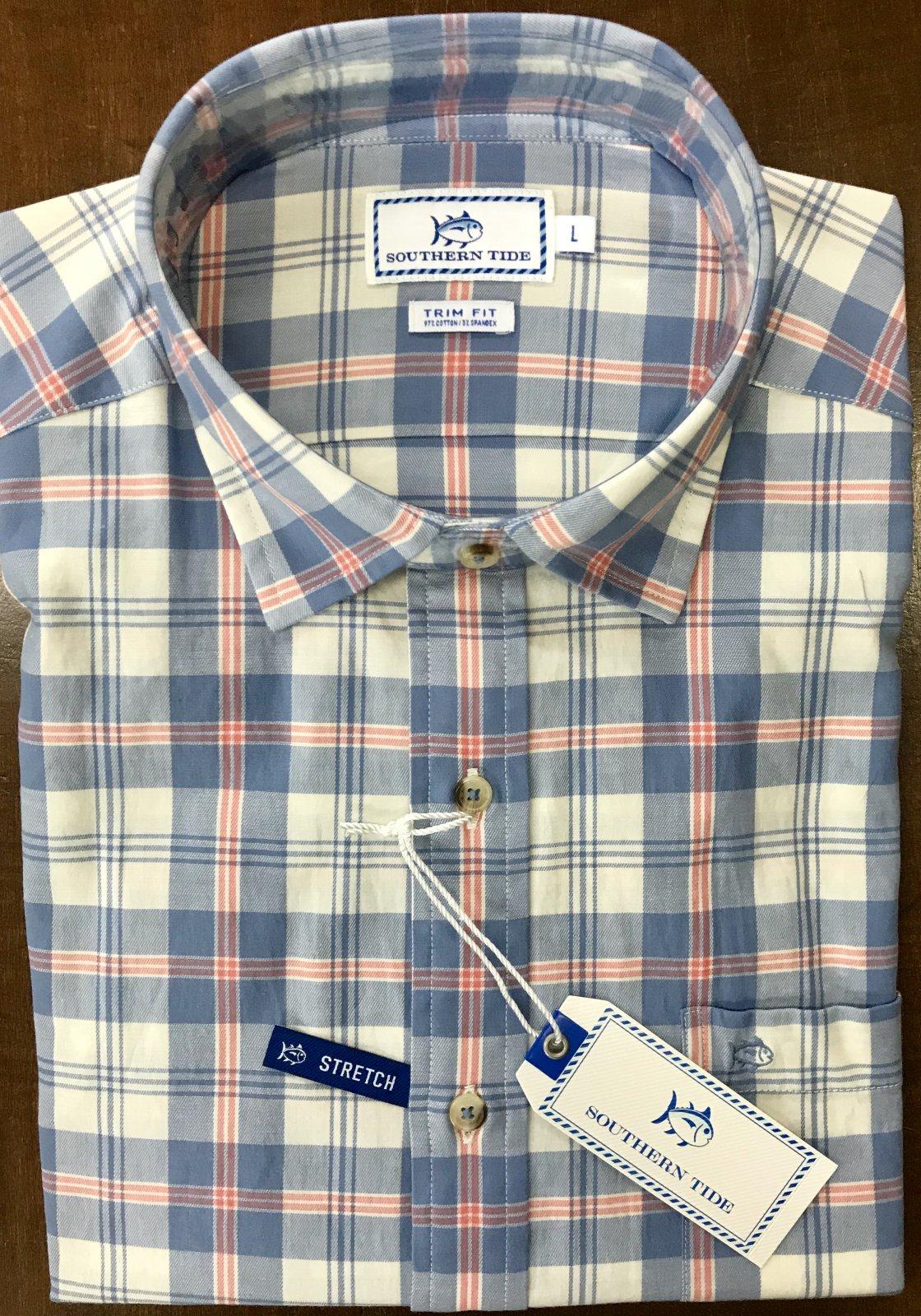 Southern Tide Oak Harbor Plaid Shirt