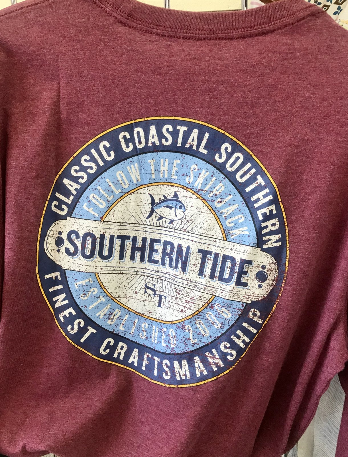 Southern Tide LS Old Southern Label Tee 5485
