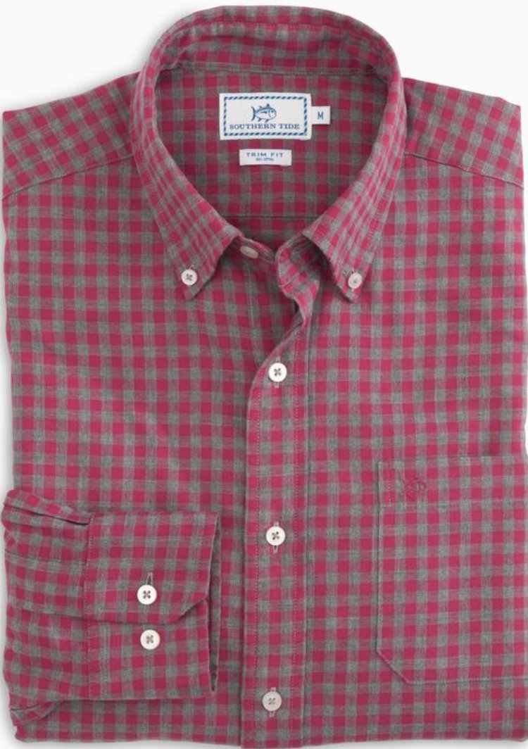 Southern Tide Sea Oak Gingham Shirt