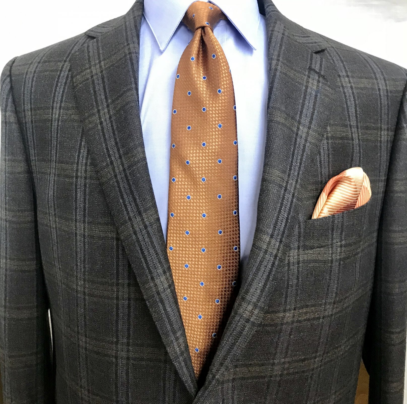 Paul Betenly Brown/Blue/Camel Plaid Sportcoat