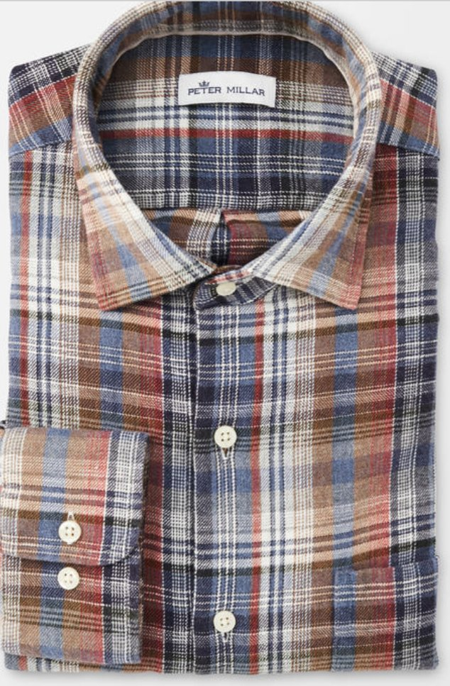 Peter Millar Mountainside Juno Dunes Multi Plaid Flannel Shirt