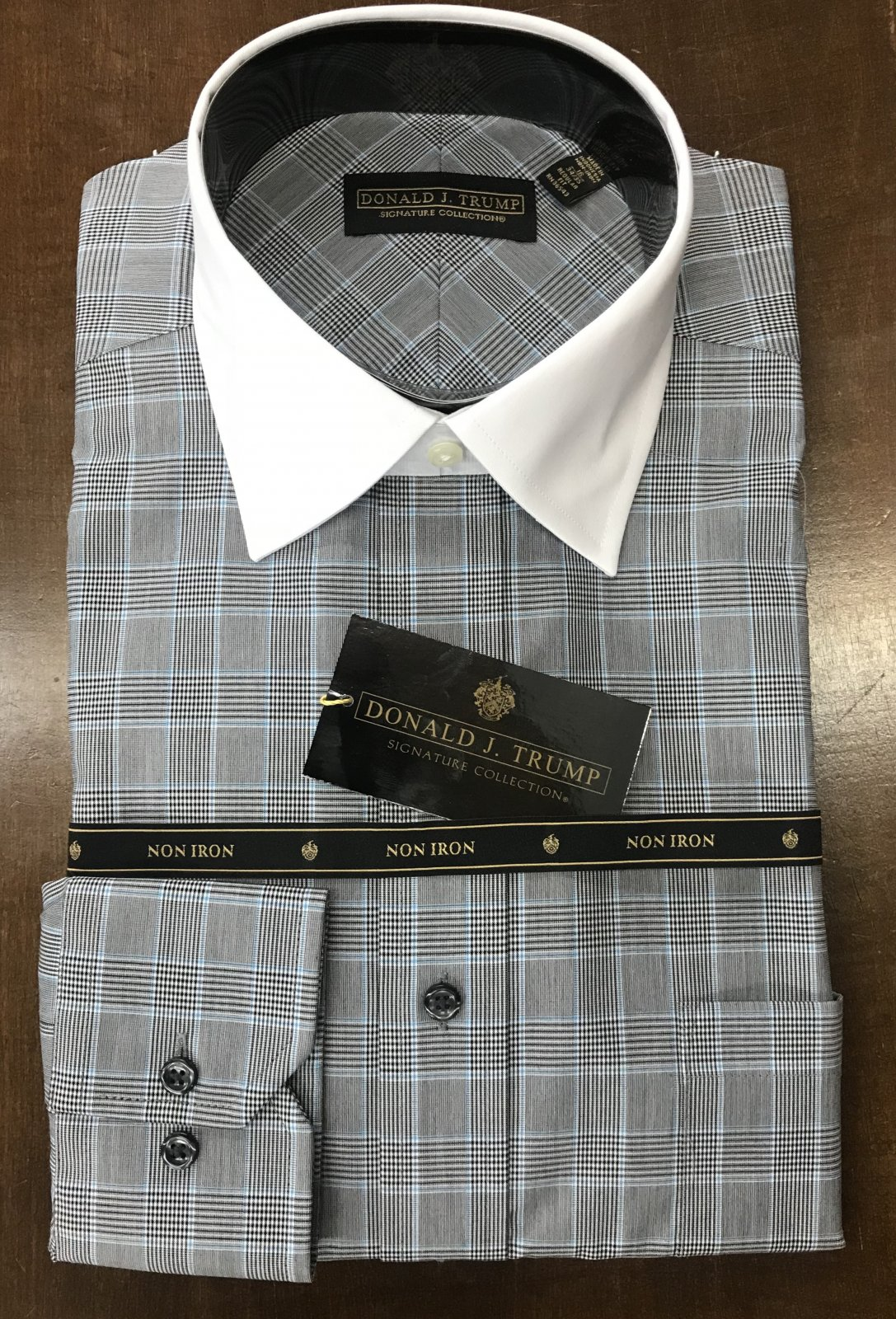 Donald J. Trump Black/Aqua Plaid