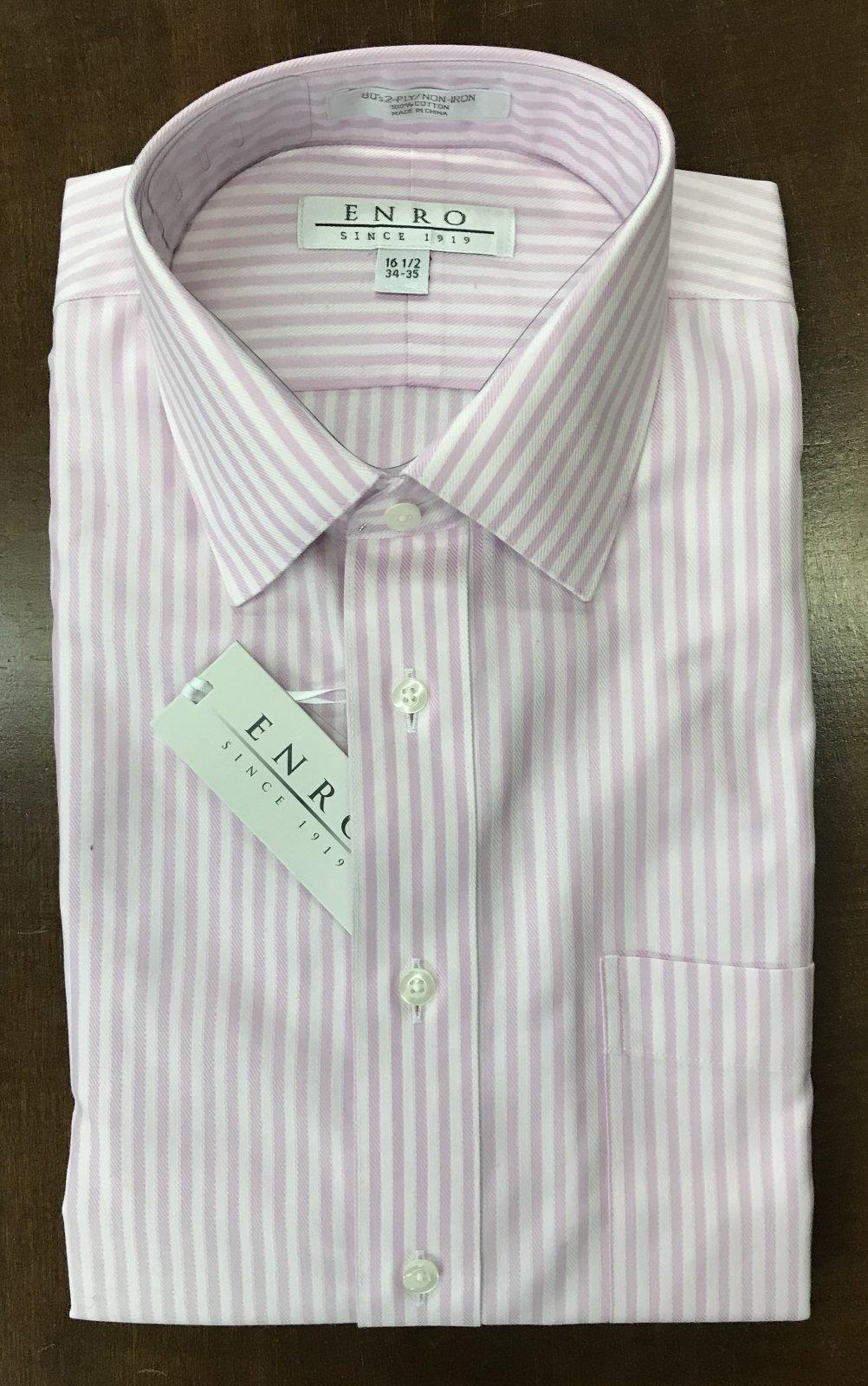 Enro LS Dress Shirt Pink Stripe 100006