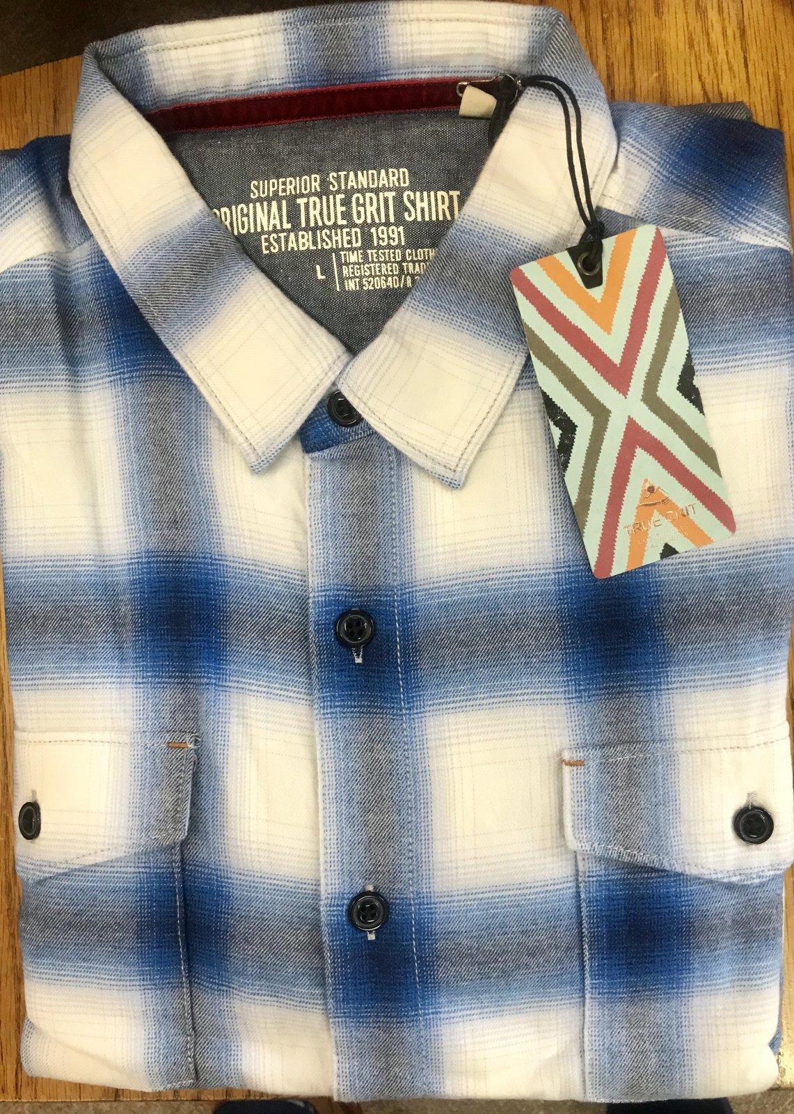True Grit Sky Plaid LS Shirt 91M52TF93