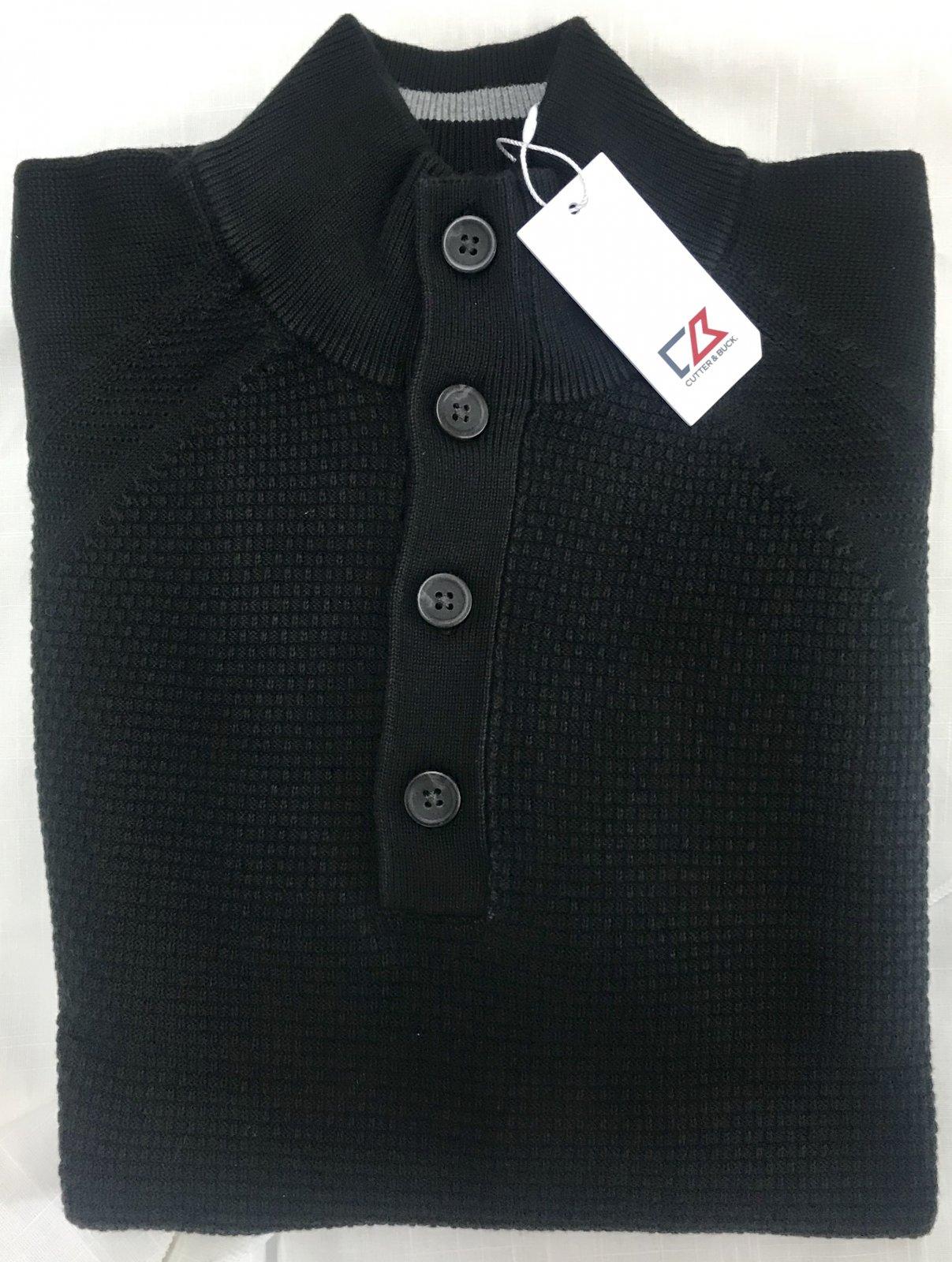 Cutter & Buck Reuben Button Mock Sweater
