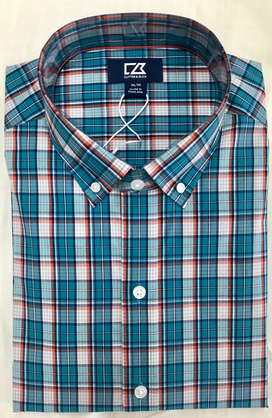 Cutter & Buck Performance Caleb Plaid Shirt