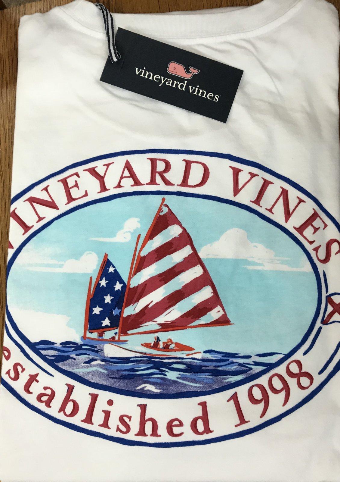 Vineyard Vines SS American Sail Pkt T