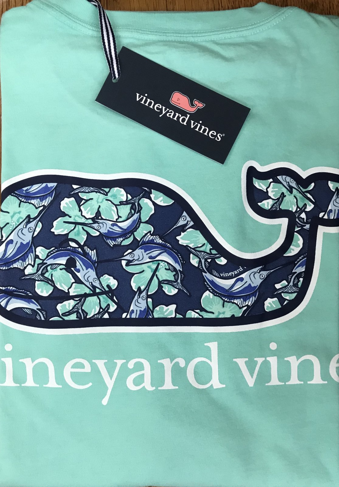 Vineyard Vines Marlin Flowers WF Pkt T