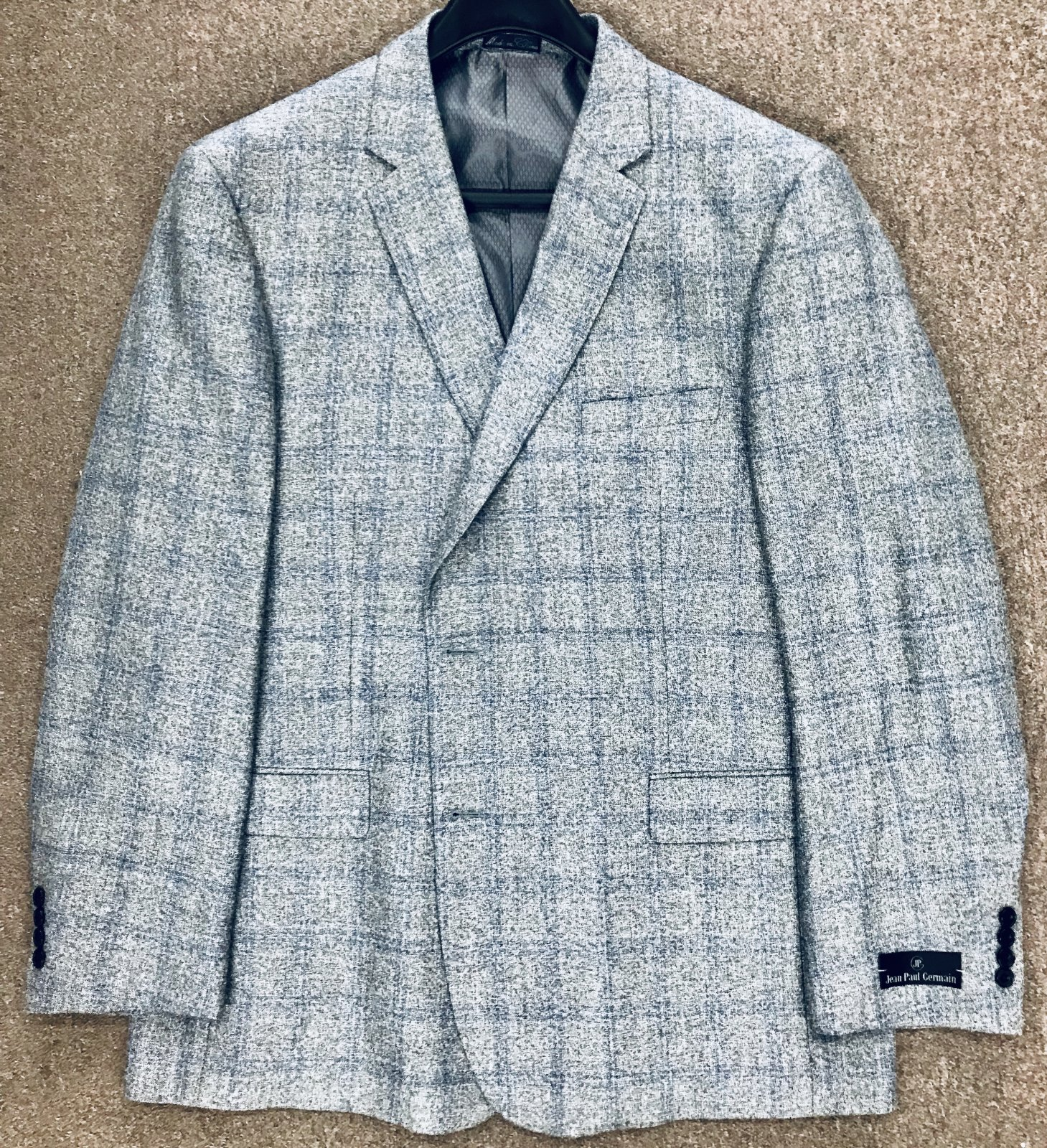 Jean-Paul Germain Lt Gray/Blue Windowpane Sportcoat