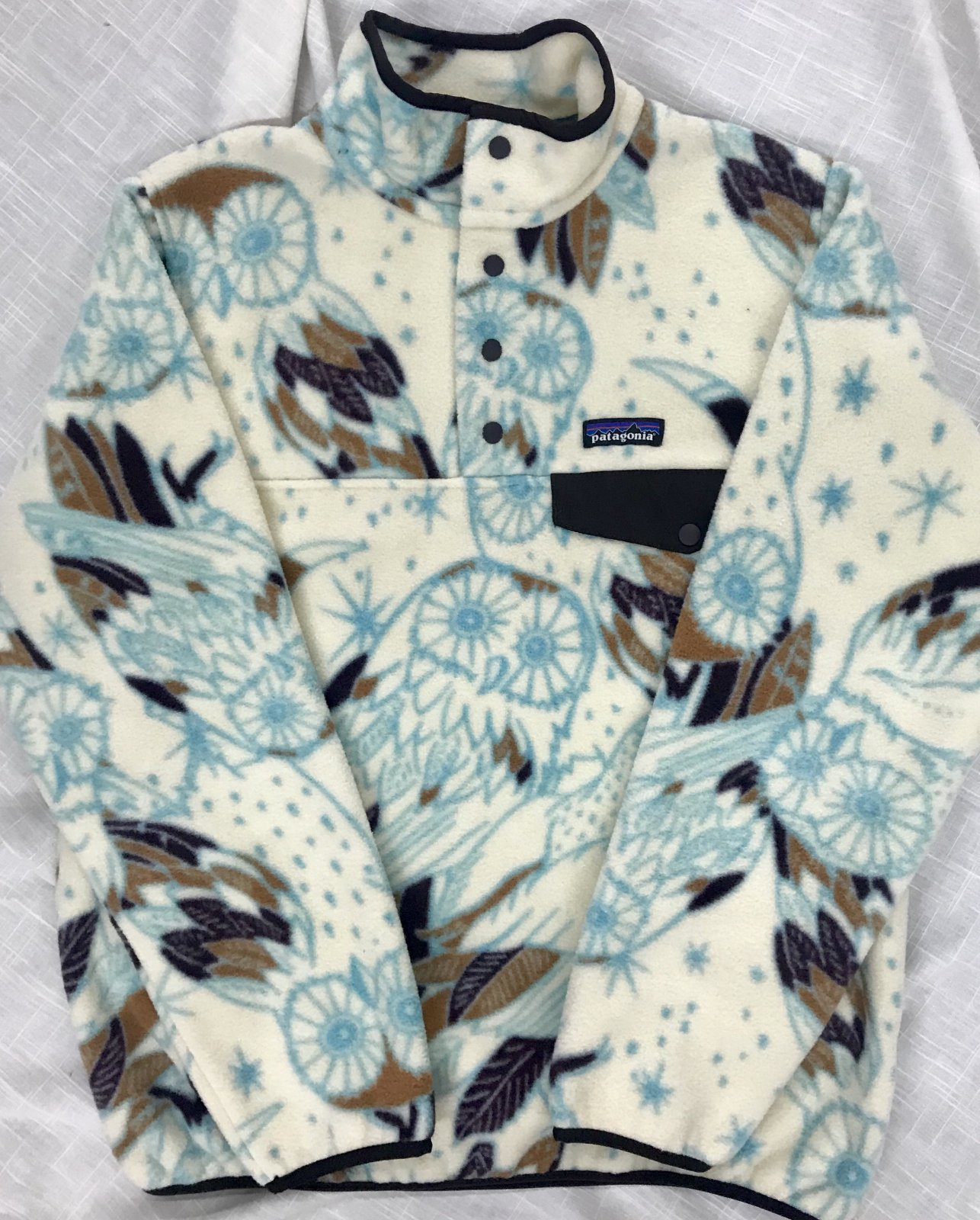 Patagonia Print Lt. Wt. Synchilla Snap-T Pullover