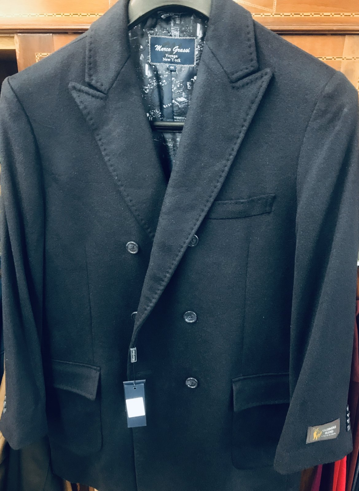 Marco Grassi Navy Pea Coat 1114