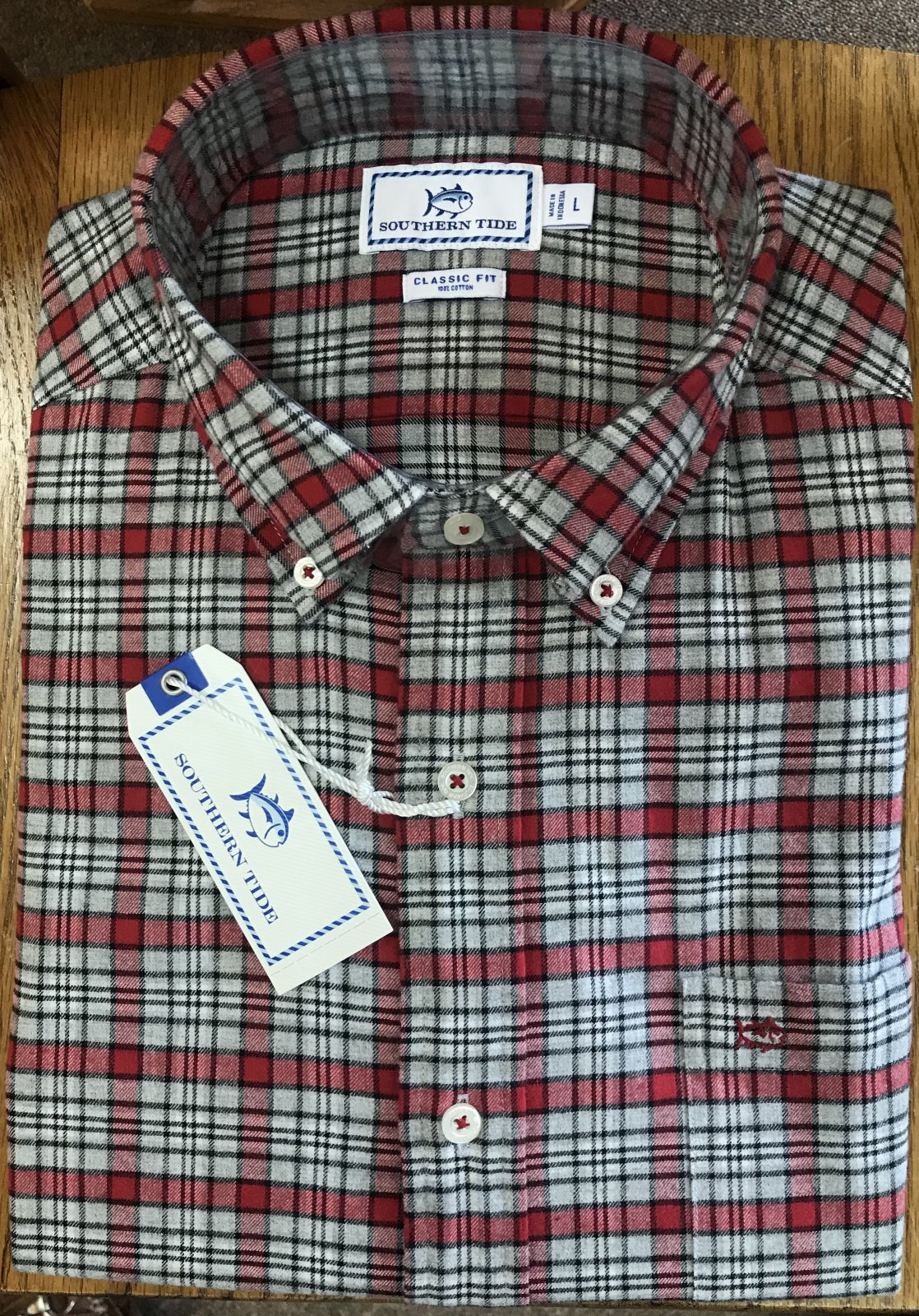 Southern Tide M's LS Point Joe Plaid Shirt 5388