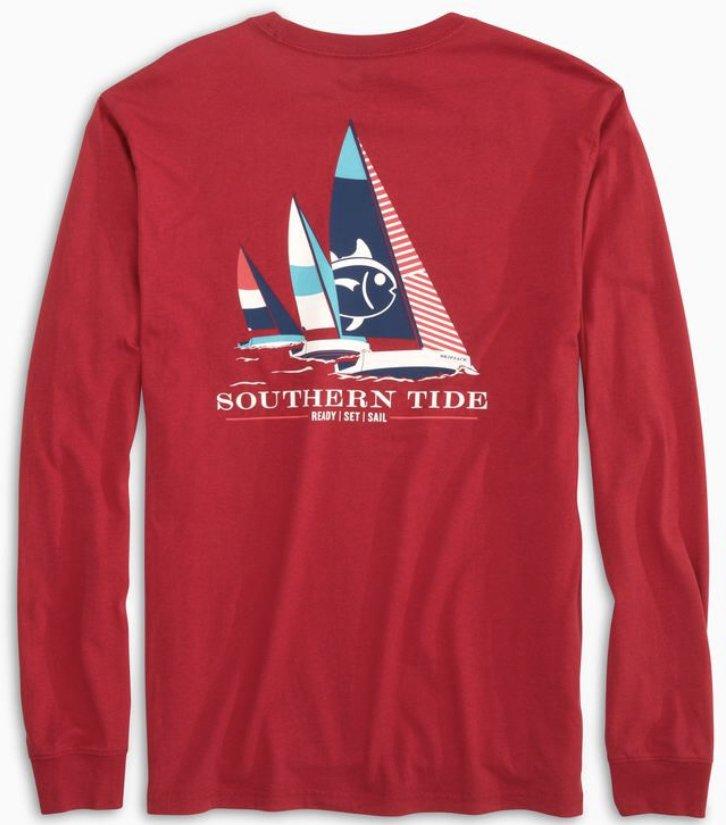 Southern Tide M's LS Ready Set Sail Tee 5487