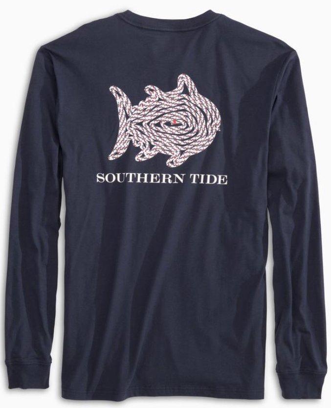 Southern Tide M's LS Skipjack Rope Tee 5488