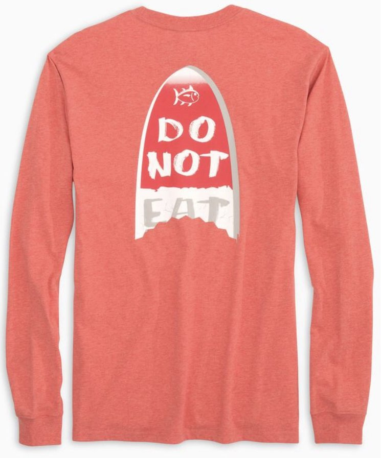 Southern Tide M's LS Do Not Eat Tee