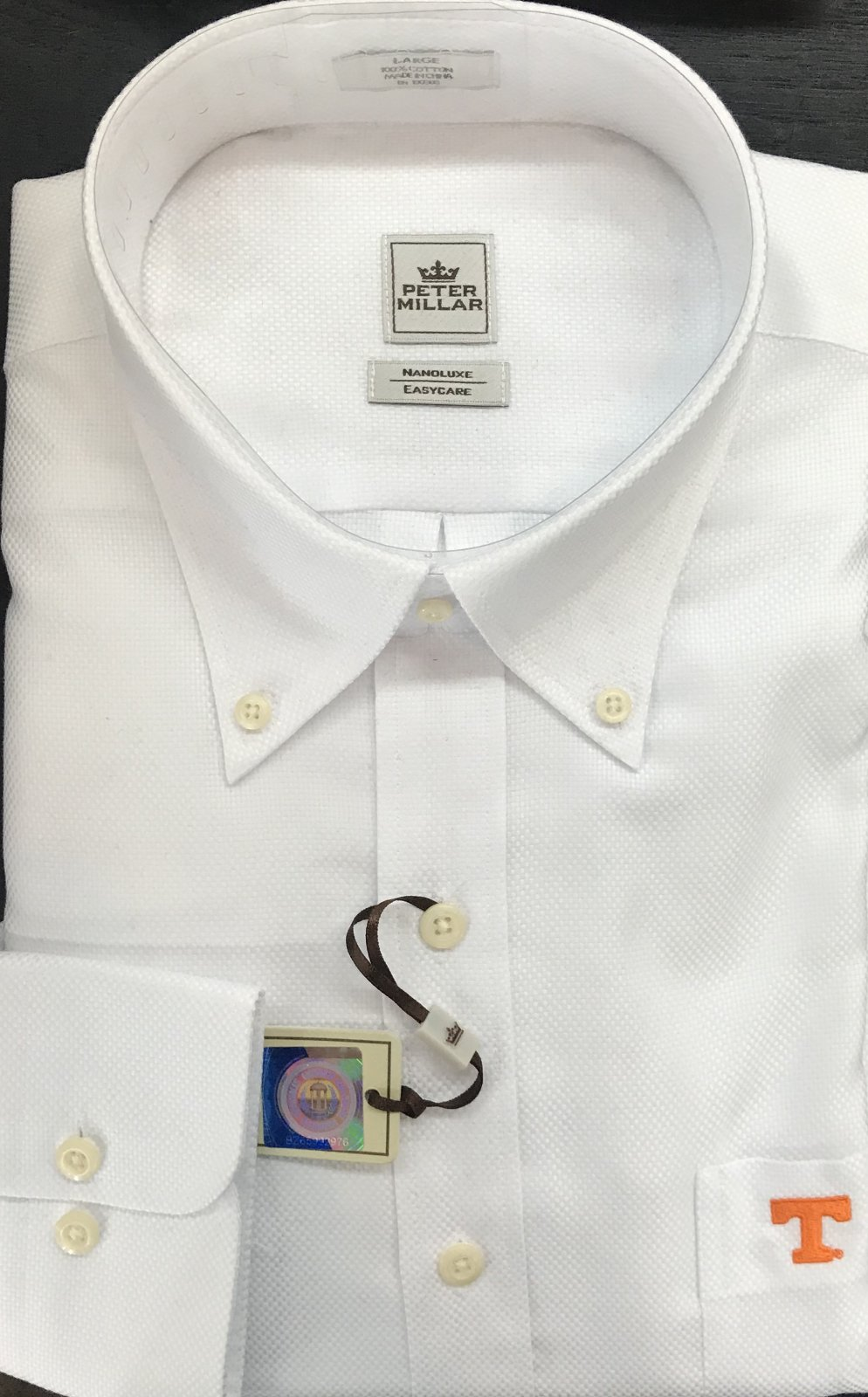 Peter Millar LS Shirt/Pocket Power T Monogram
