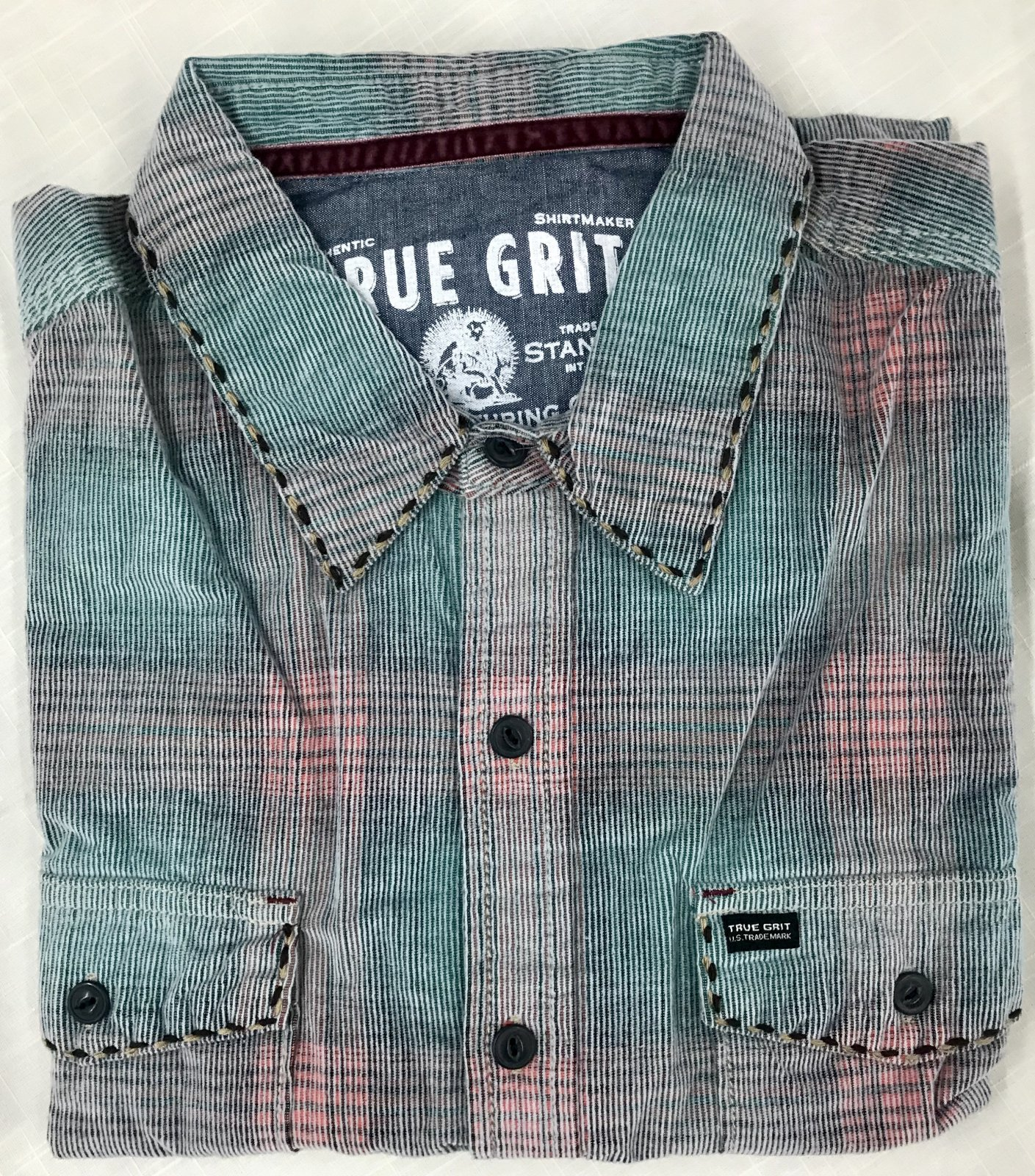 True Grit Trestle Vintage Plaid Cord LS Sportshirt