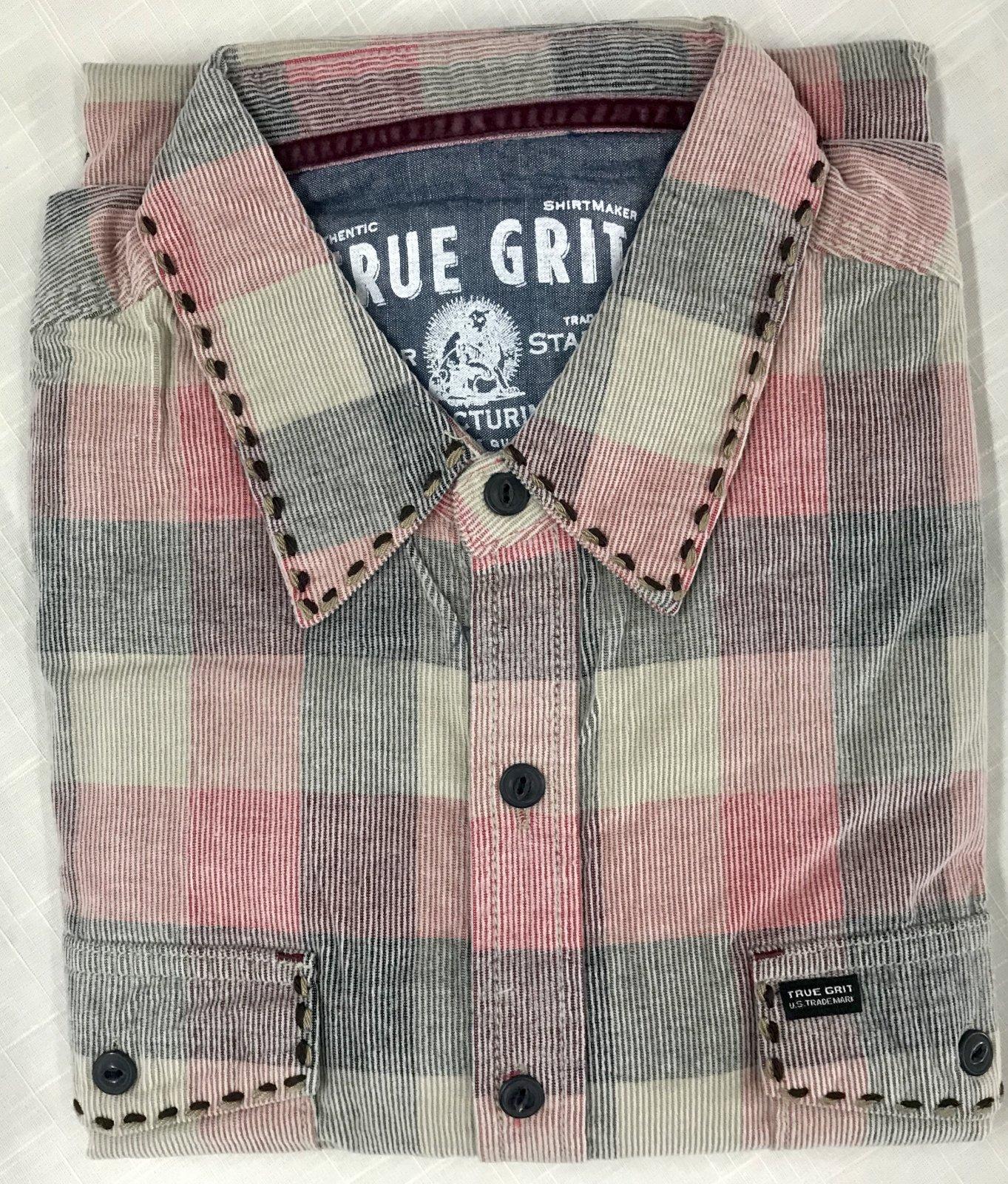 True Grit Wyatt vintage Plaid Cord LS Sportshirt