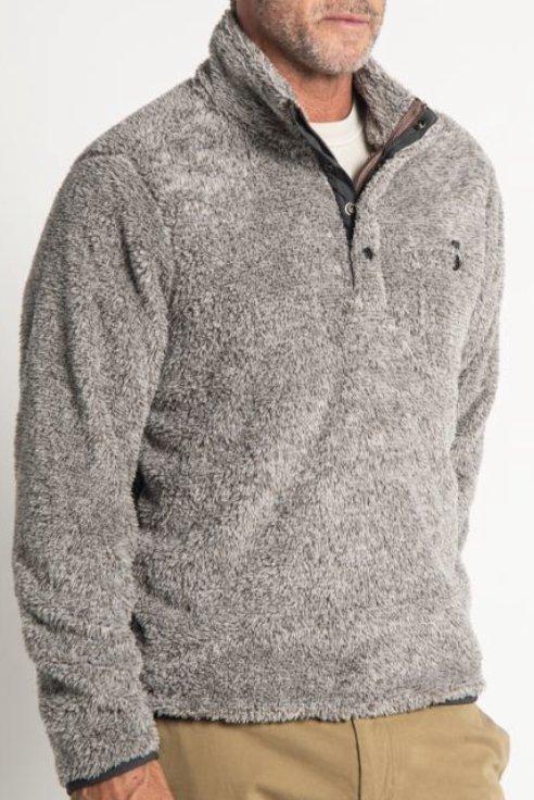 True Grit Melange Shag Sherpa Snap Pullover