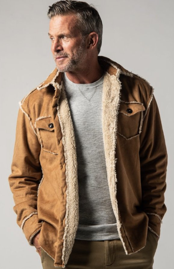 True Grit Vintage Washed Sherpa Button Jacket