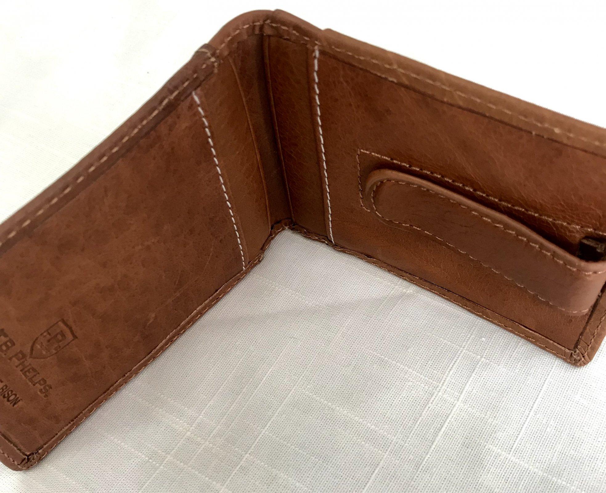 T. B. Phelps Cheyenne Bifold Bison Pocket Wallet