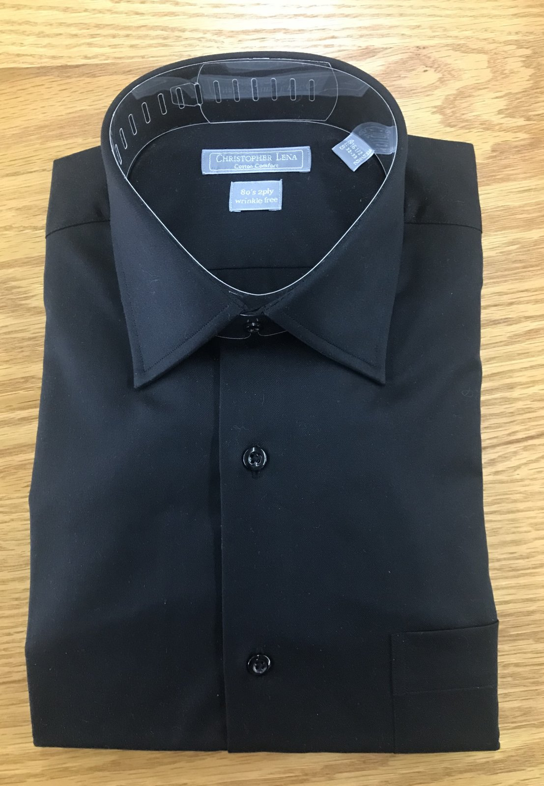 Christopher Lena Blk Dress Shirt