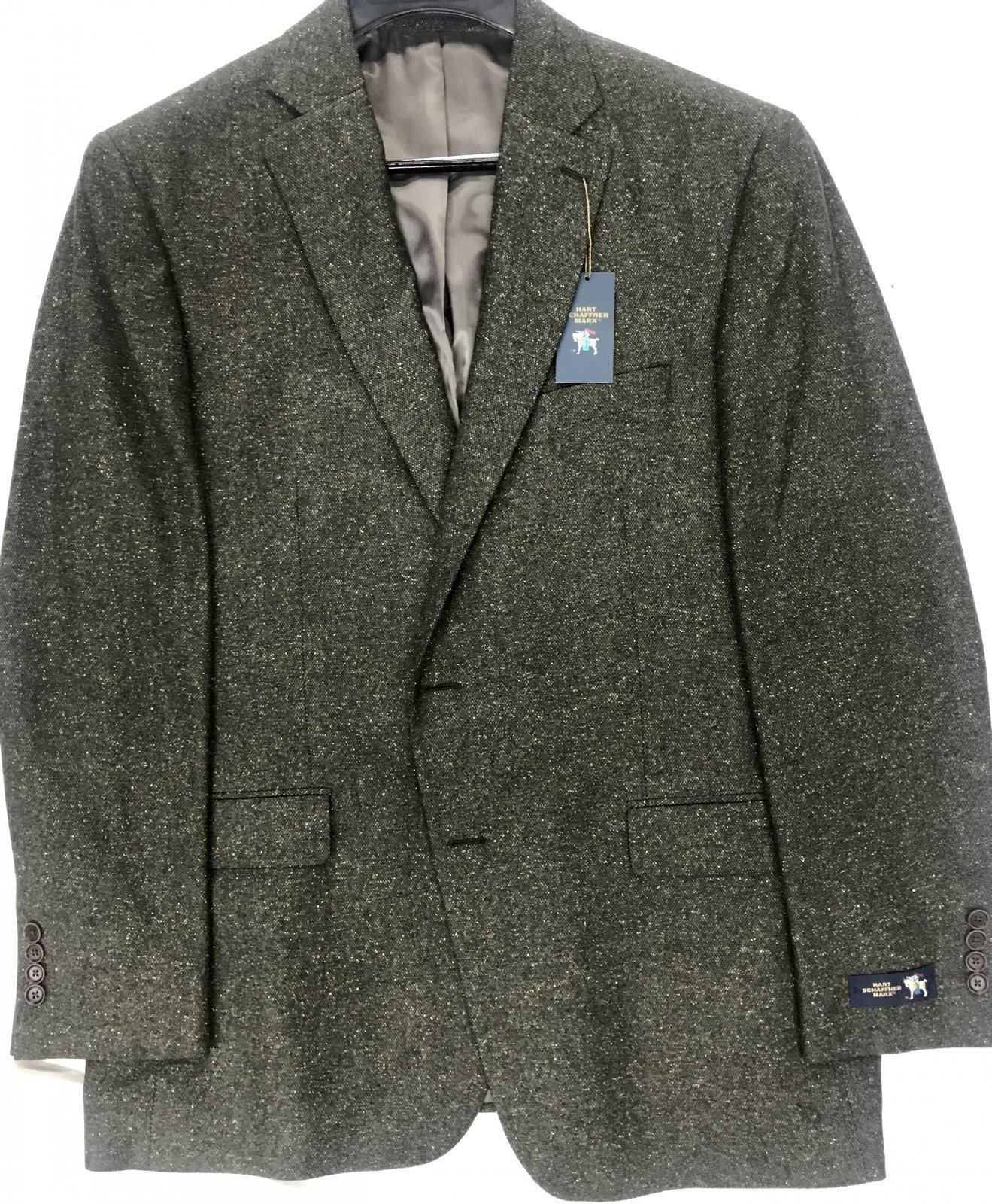 Hart Schaffner Marx Olive Donegal Sportcoat