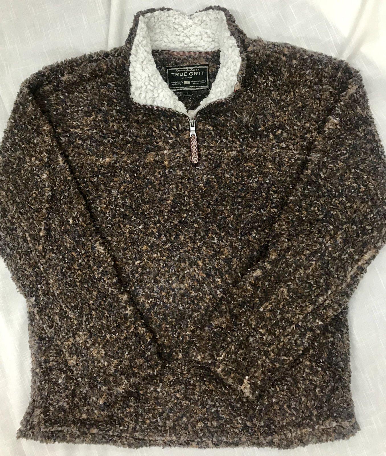True Grit Texture Sherpa 1/4 Zip Pullover 91M65SOH