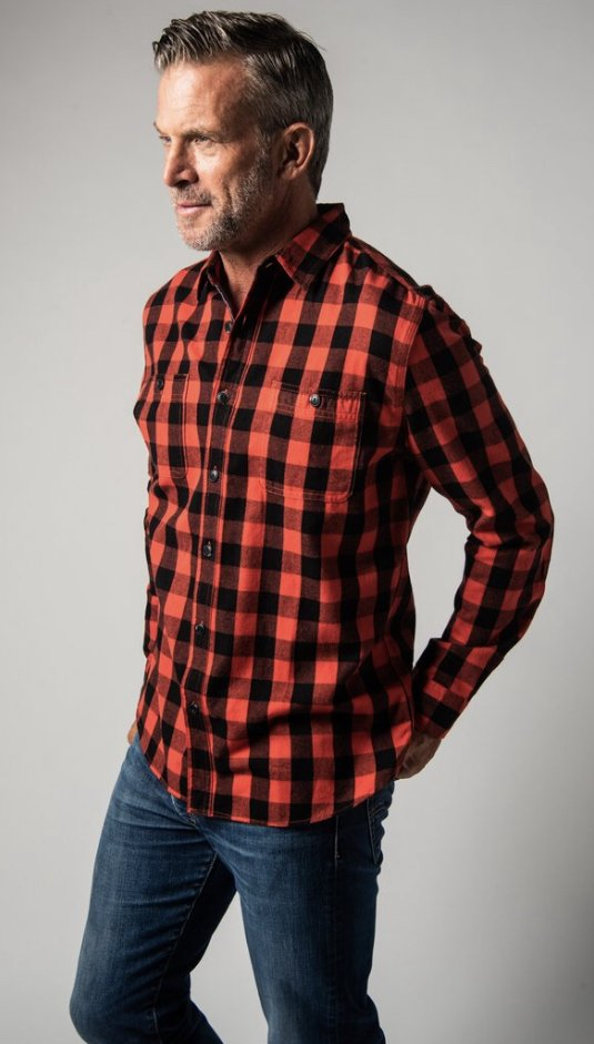 True Grit Buffalo Plaid LS Pocket Shirt 91M34TMF18