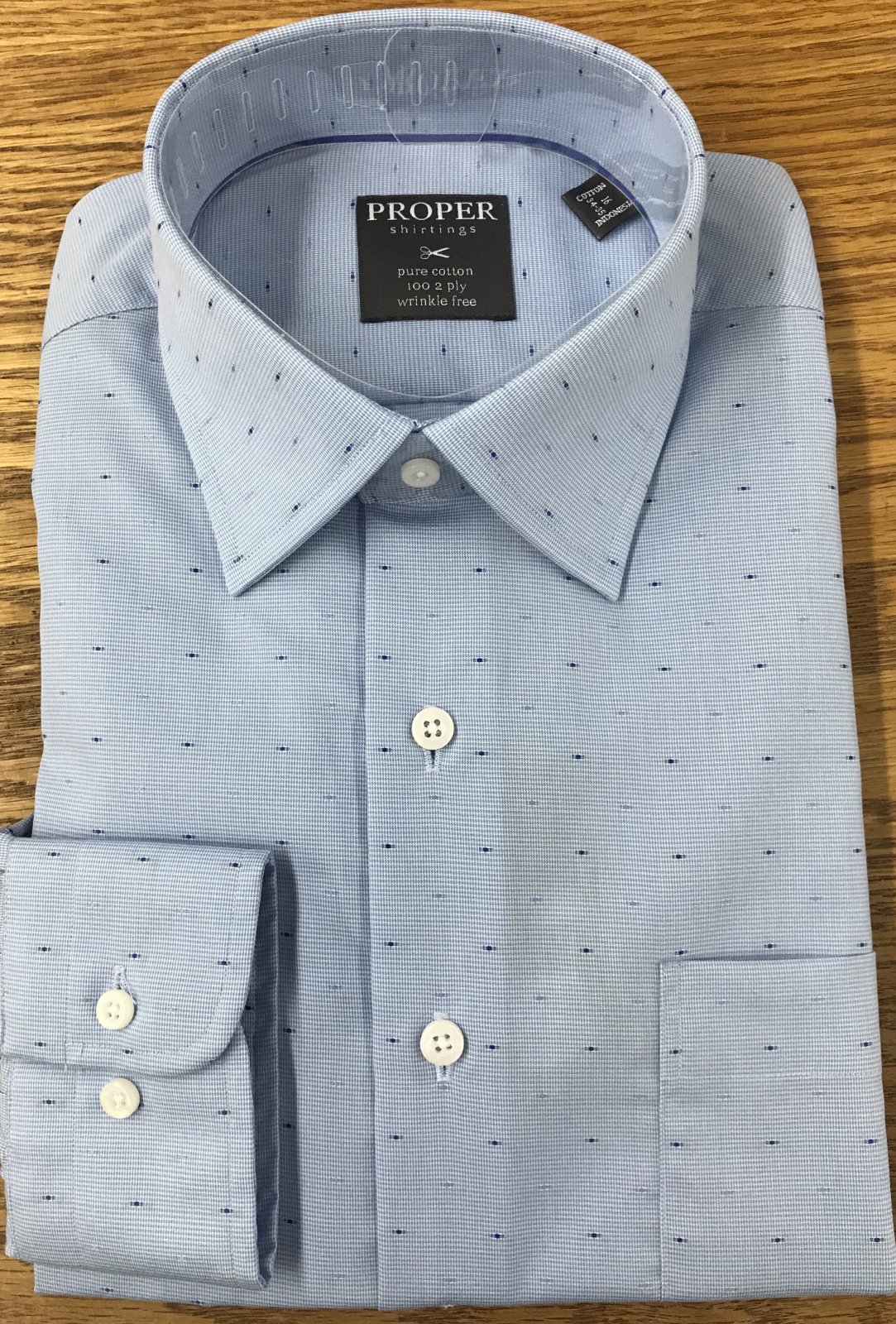 Proper Shirtings Blue Dots