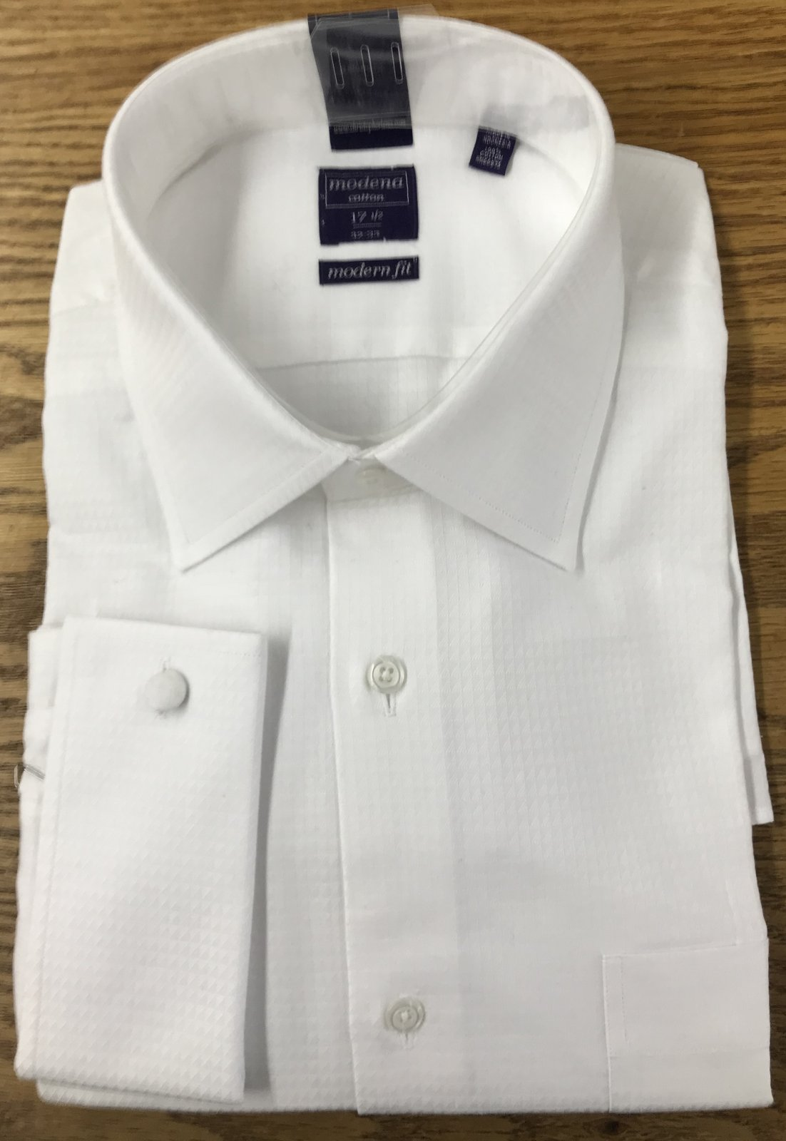 Modena Modern White French Cuff Shirt