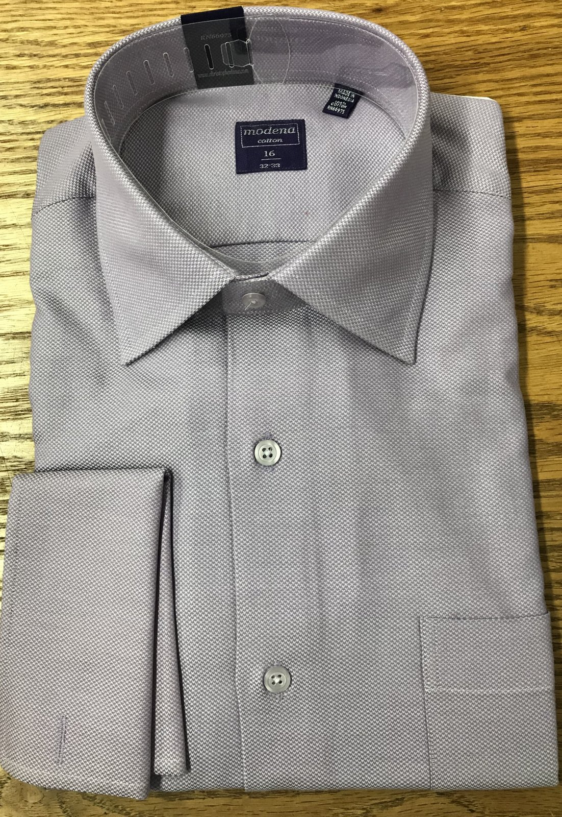 Modena Lavender French Cuff Shirt