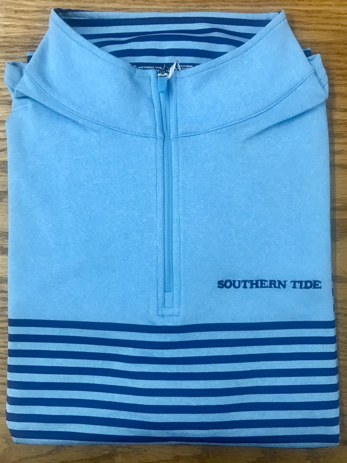 Southern Tide Front Street  Stripe Performance 1/4 Zip 5886