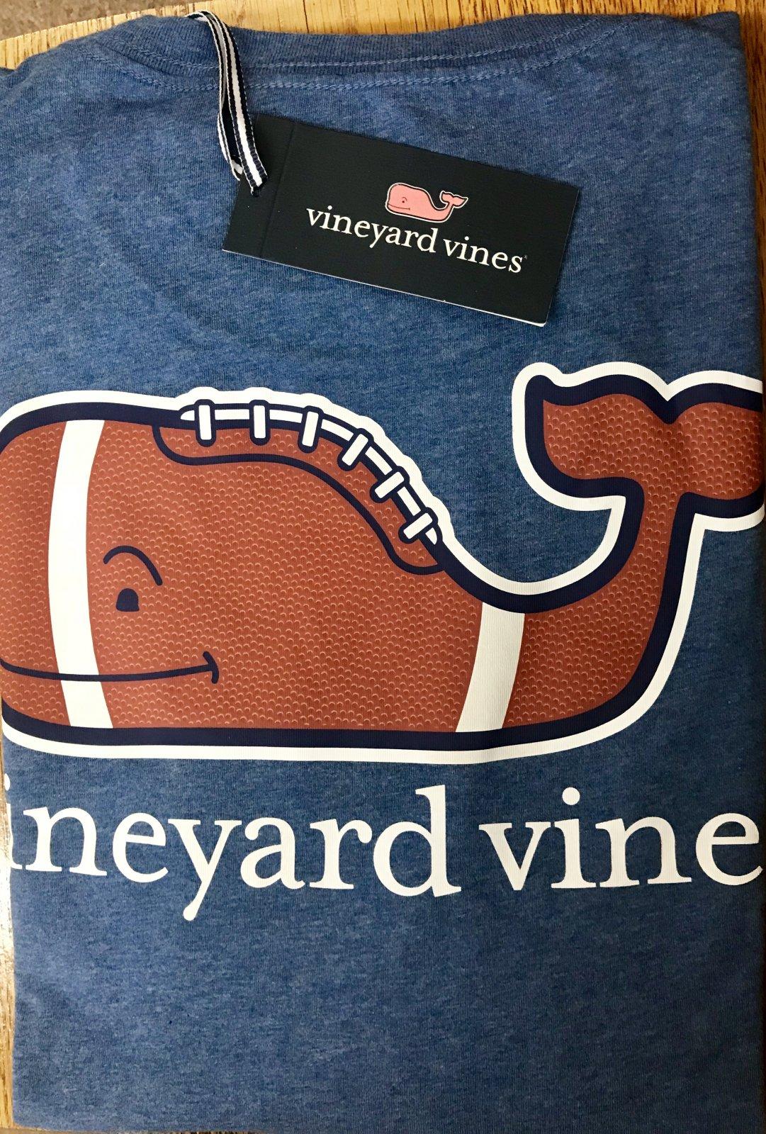 Vineyard Vines LS HTHRD Football WHLE Pkt T