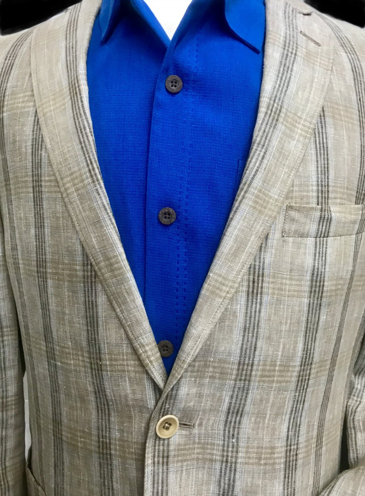 Tallia Orange Medium Tan Plaid Sportcoat