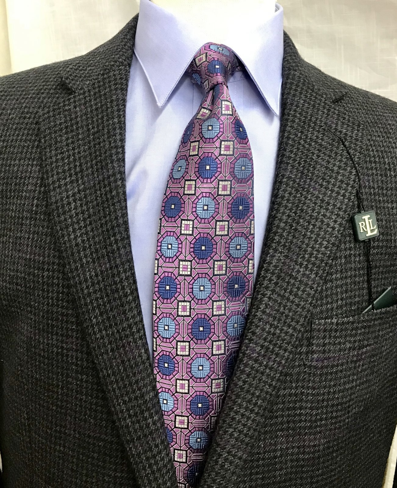 Lauren Charcoal/Purple Plaid Sportcoat