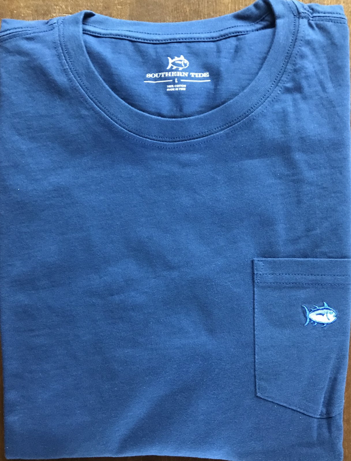 Southern Tide Fall 18 LS Embroidered Pocket T-Shirt