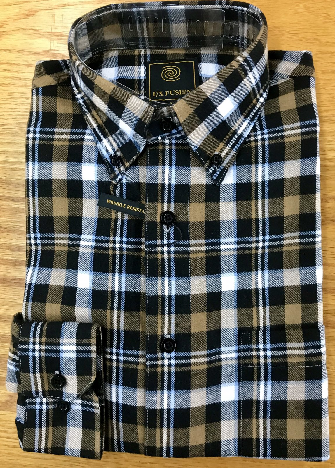 Fx Fusion Black Multi Plaid LSl Flannel Shirt