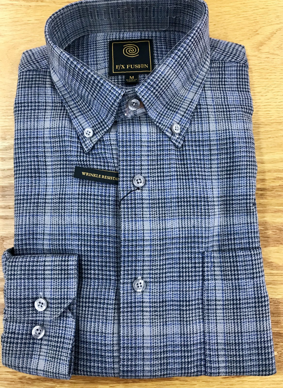 FX Fusion Grey Mini Plaid Flannel Shirt