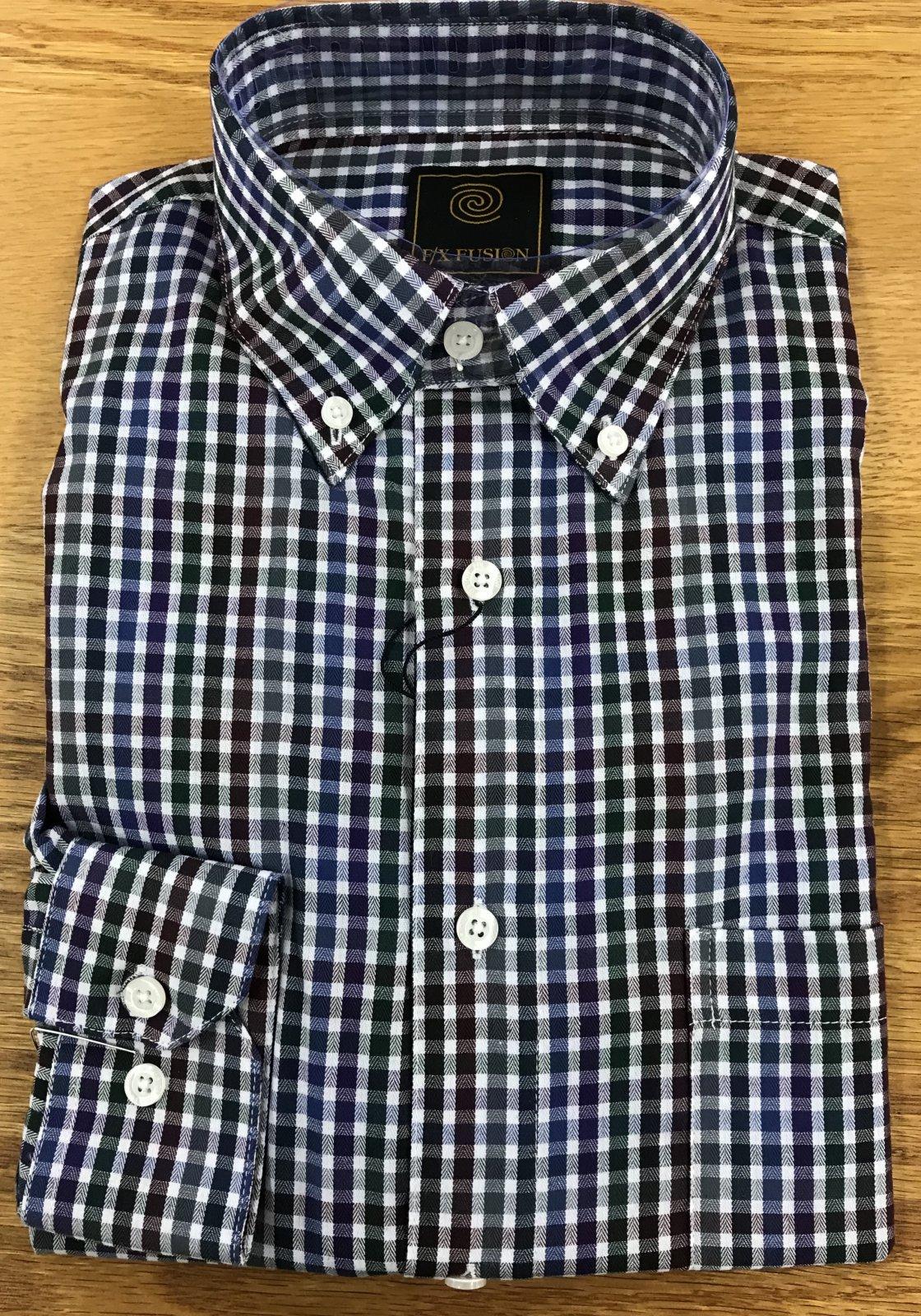 FX Fusion LS Olive Multi Sportshirt
