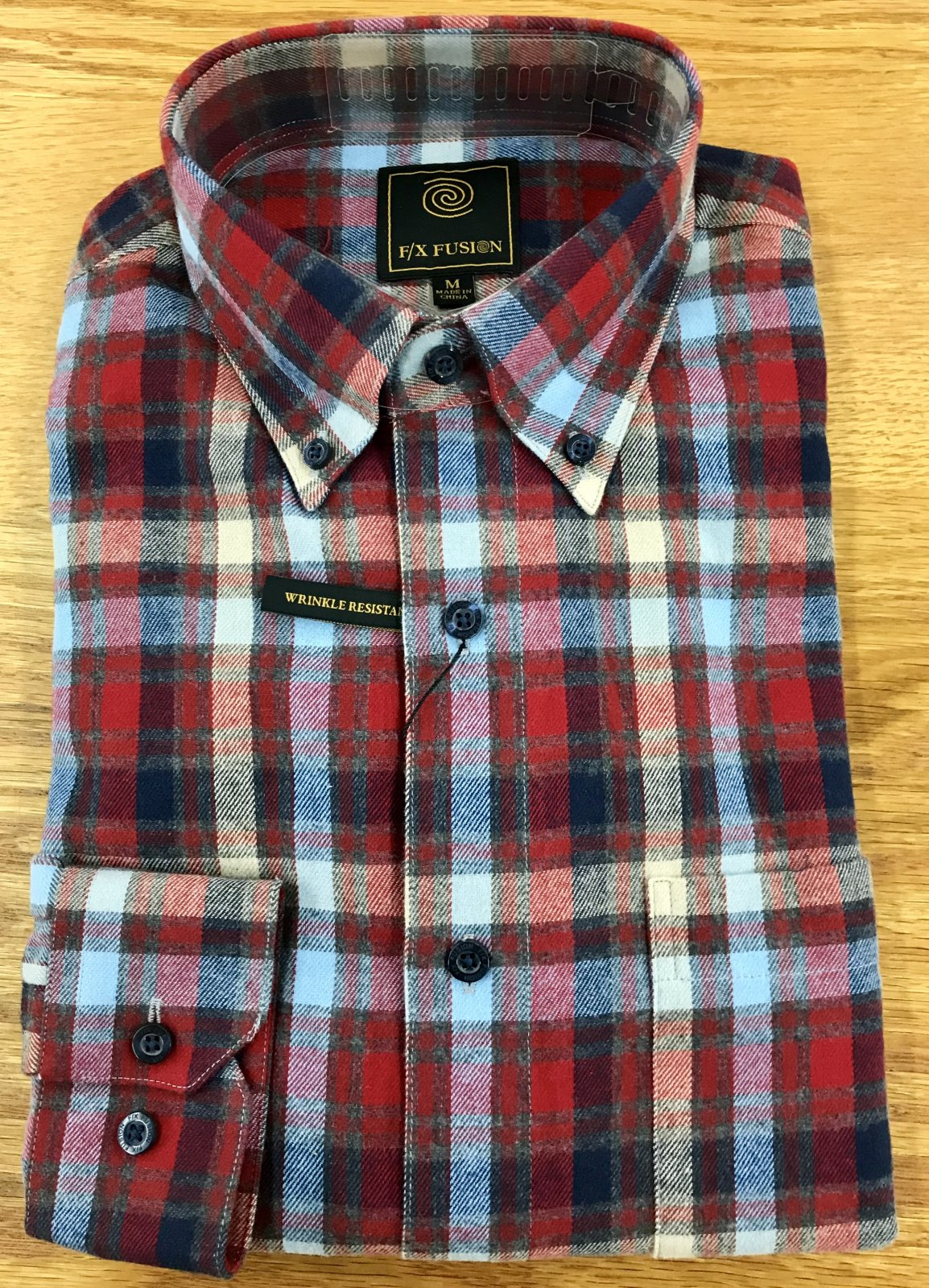FX Fusion Red Multi Check LS Flannel Shirt