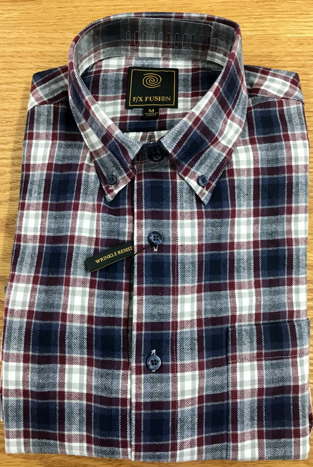 FX Fusion Burg/Multi Plaid Flannel Shirt