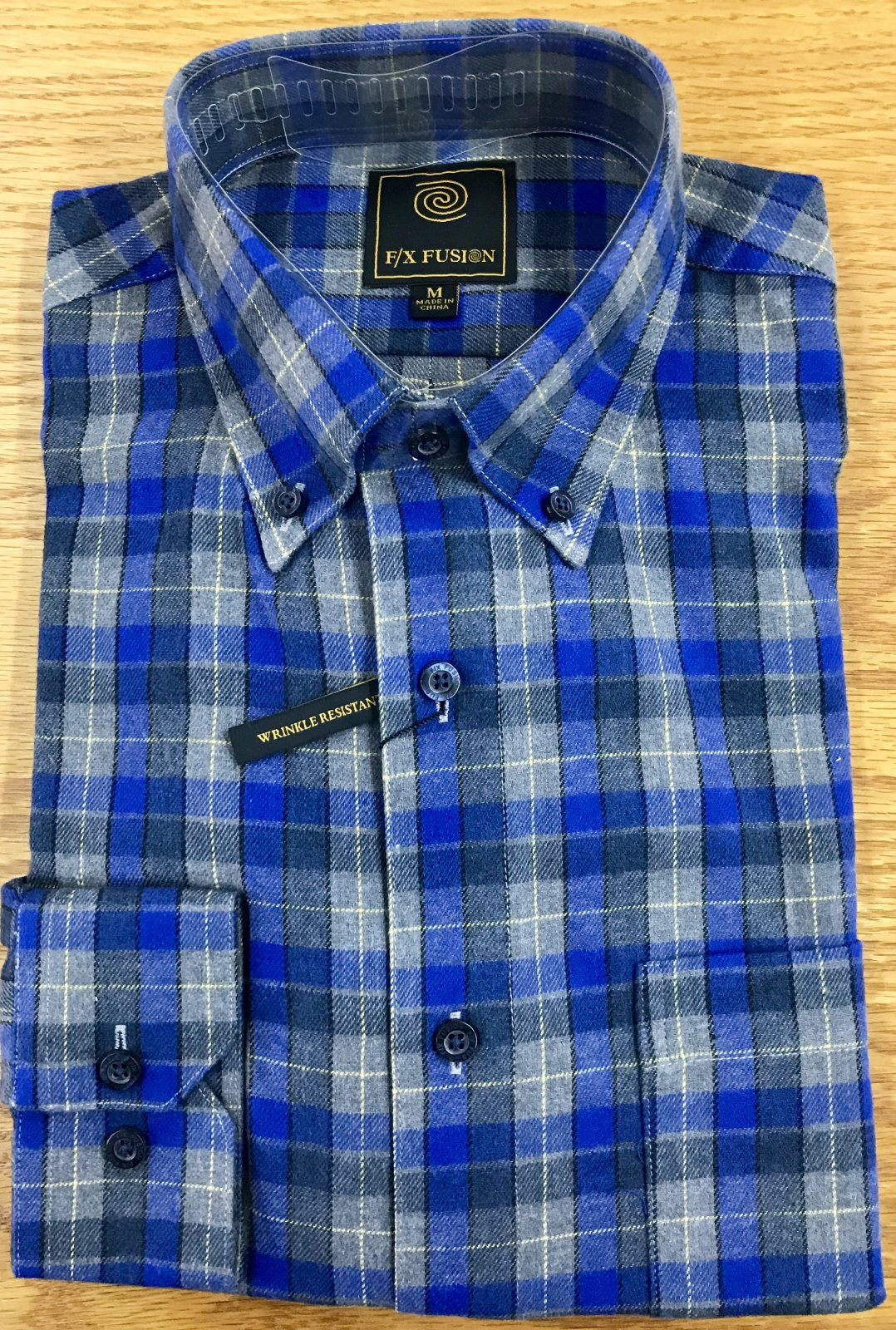 FX Fusion LS Royal Multi Check Flannel Shirt