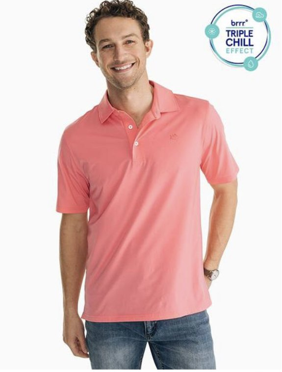 Southern Tide SS Brrr Driver Perf. Polo 6117