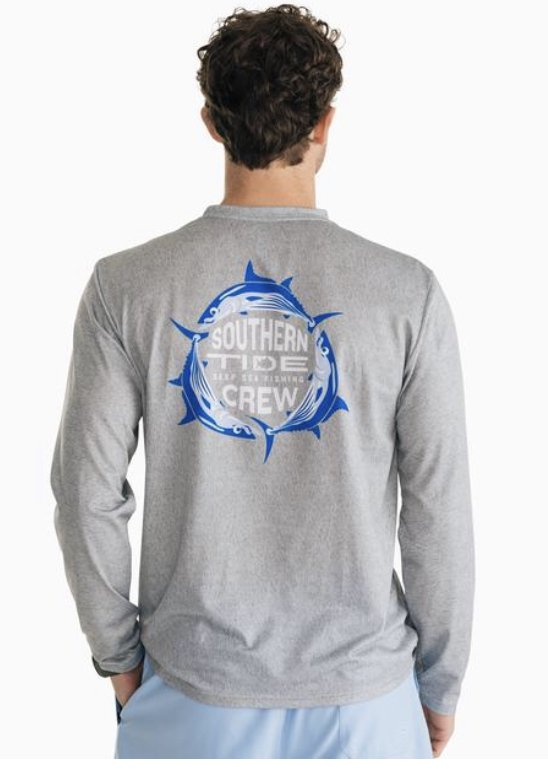 Southern Tide LS Deep Sea Fishing Perf. Tee 6299