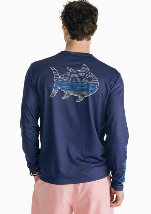 Southern Tide LS By On N2 Perf. Tee 6298